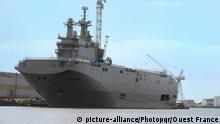 Frankreich Kriegsschiff Mistral 19.03.2014