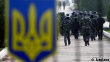 Ukraine Soldaten Armebasis Belbek