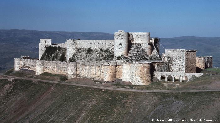 Die Kreuzritterburg Krak des Chevaliers in Syrien
