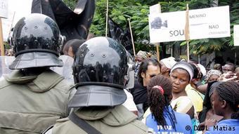 Maputo Mosambik Frauenrechte Demonstration