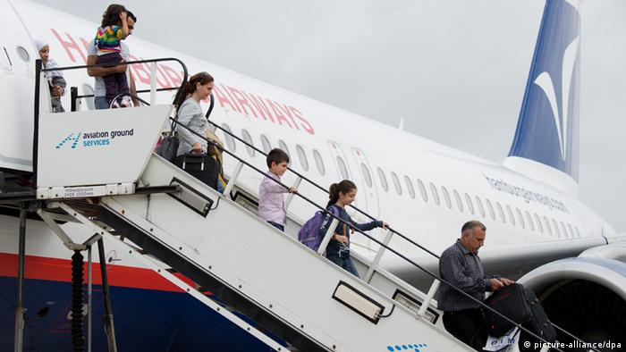 Hannover Ankunft Flüchtlinge aus Syrien 2013