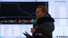 Russland Wirtschaft Börse in Moskau Kurse