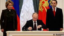 Putin Krim Unterzeichnung 21.03.2014