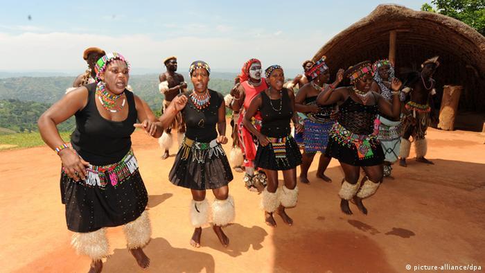 Zulu women performing a traditional dance