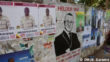 Was: Wahlkampf in Guinea-Bissau 2014 Wer: Helder Vaz Plakat Wo: Bissau, Guinea-Bissau Datum: 20.03.14 Autor: Braima Darame
