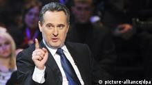 ITAR-TASS 96: KIEV, UKRAINE. JANUARY 20, 2009. Dmytro (Dmitry) Firtash, a co-owner of Rosukrenergo, a Swiss-based gas trading firm co-owned by the Russian giant Gazprom, appears on ?Svoboda Na Interi? political show. (Photo ITAR-TASS / Inter TV Channel Press Service) +++(c) dpa - Report+++