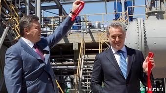 Экс-президент Украины Виктор Янукович и Дмитрий Фирташ, 2012 год
