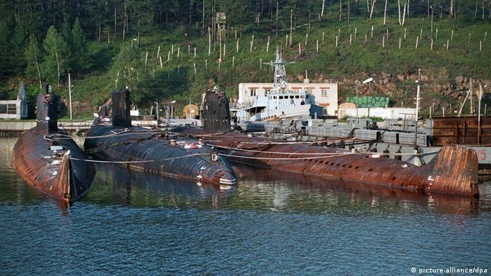 Зняті з експлуатації російські атомні підводні човни, котрі походять іще з радянських часів