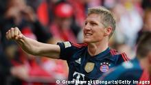 Bayern's Bastian Schweinsteiger celebrates his goal against Mainz. Photo: Getty