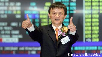 Hat gut lachen: Alibaba-Gründer Jack Ma bringt seinen Konzern an die Börse (Foto: dpa).