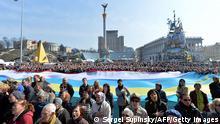 Krim-Krise Proteste auf dem Maidan 23.03.2014