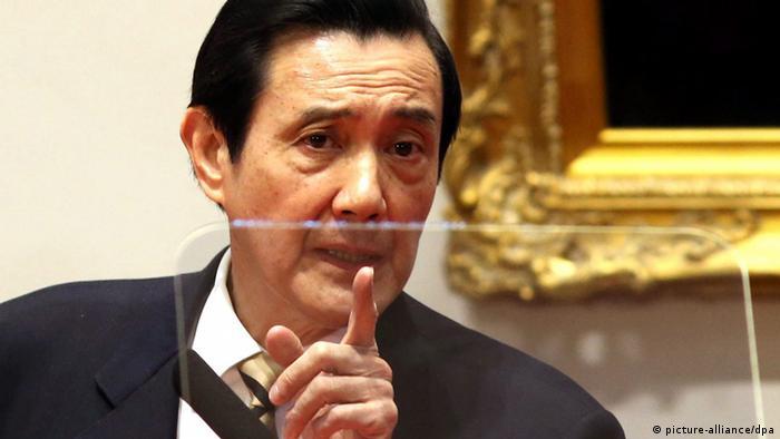 Taiwans Präsident Ma Ying-jeou gibt Pressekonferenz nach Studentenprotesten