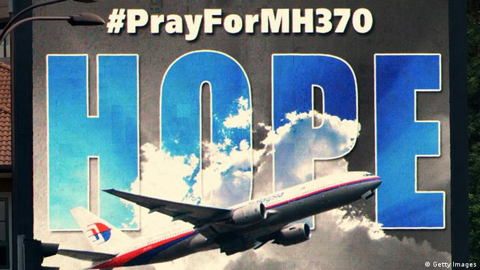 Suche Malaysian Airlines MH370 Plakat