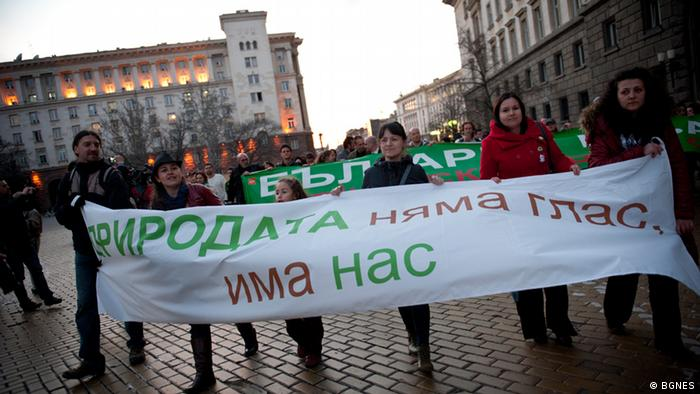 Proteste von Umweltaktivisten in Sofia