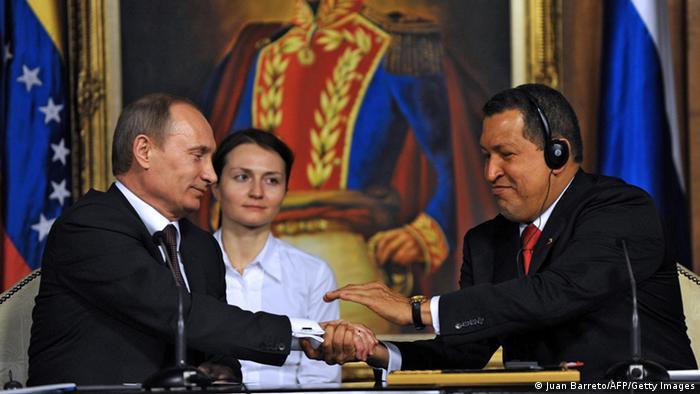 Putin visita a Chávez en Caracas, abril de 2010.