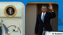 Barack Obama in Amsterdam Flughafen Schiphol auf dem Weg zum Atomgipfel in Den Haag