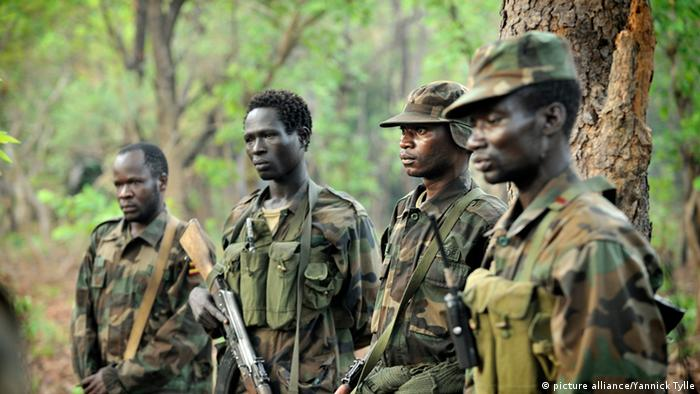 Uganda Soldiers searching for Joseph Kony in Central Africa