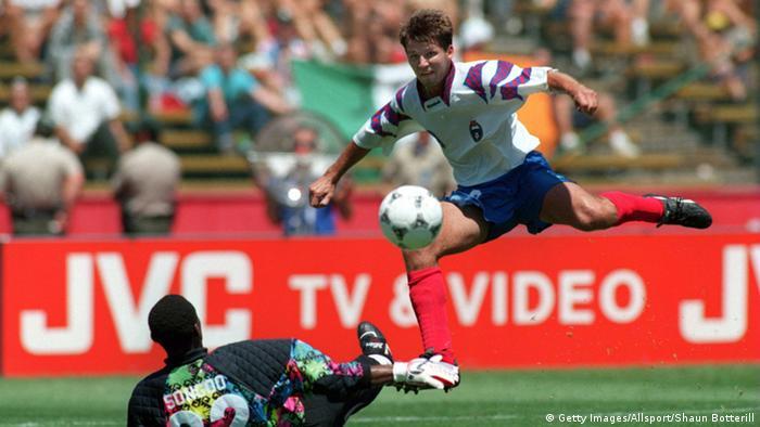 Galerie Fußball-WM-Torschützenkönige OLEG SALENKO (Getty Images/Allsport/Shaun Botterill)