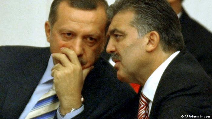 Recep Tayyip Erdogan and Abdullah Gul speak in 2008 (AFP/Getty Images)