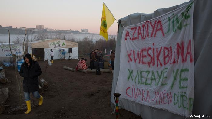 Protest encampment at Hevsel Gardens
