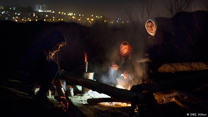 Campfire at Hevsel Garden protests