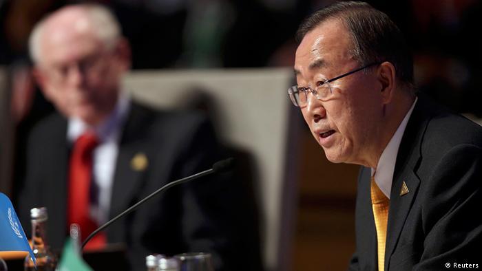 Генеральний секретар ООН Пан Гі Мун (праворуч) під час саміту з атомної безпеки в Гаазі
