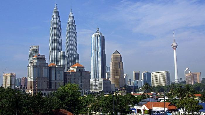General view of Kuala Lumpur skyline, Malaysia, 24 June 2002 (Photo: AHMAD YUSNI/AFP/Getty Images)