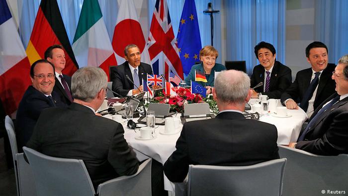 Niederlande G7-Treffen Krisengipfel in Den Haag Gruppenbild (Reuters)