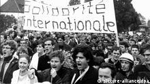 Deutschland Geschichte Studentenbewegung Daniel Cohn-Bendit Demonstration 1968