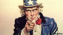 I want you for the U.S. Army nearest recruiting station * Description : Uncle Sam recruiting poster. * Painted by : James Montgomery Flagg in 1916-1917 This image is a work of a U.S. military or Department of Defense employee, taken or made during the course of an employee's official duties. As a work of the U.S. federal government, the image is in the public domain. Quelle: http://en.wikipedia.org/wiki/File:Unclesamwantyou.jpg World War I Uncle Sam recruiting poster.