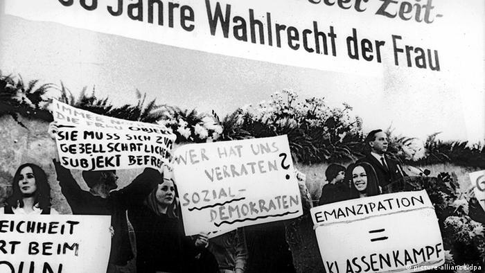Демонстрация женщин. Германия, 1968 год