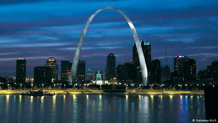 Gateway Arch in St. Louis in Missouri, USA