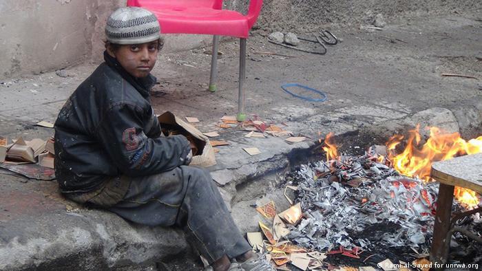 Dječak iz izbjegličkog logora Yarmouk