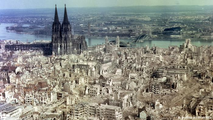 Cologne at the end of World War II