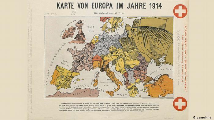 Deutsche Karte Vor Dem 1 Weltkrieg.Die Welt Zugespitzt Wie Eine Karikatur Der Erste Weltkrieg