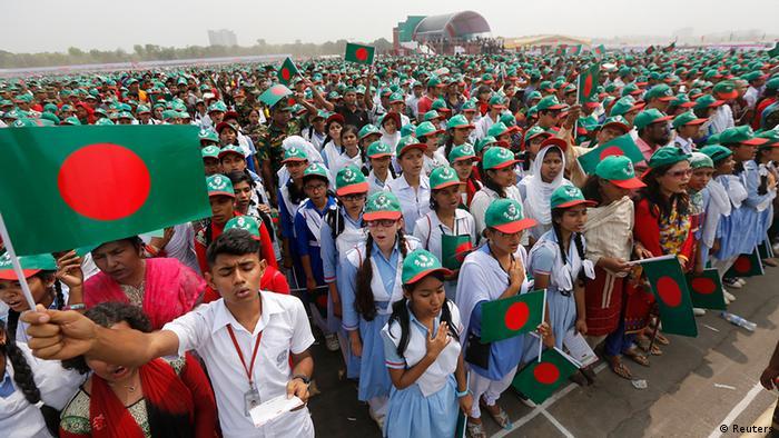 Bangladesch singen für Guinness in Dhaka Nationalhymne