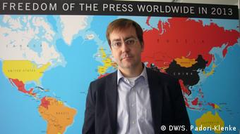 Christian Mihr Geschäftsführer Reporter ohne Grenzen (DW/S. Padori-Klenke)
