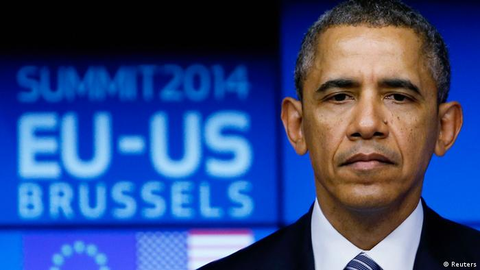 Barack Obama at the Brussels EU-US summit (Photo: REUTERS/Yves Herman)