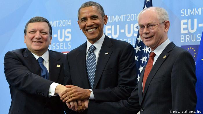 Barroso, Obama i Rompuy u Bruxellesu
