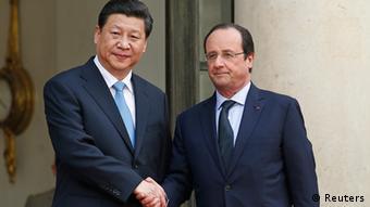 Präsident Xi Jinping bei Francois Hollande in Paris (Foto: Reuters)