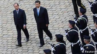 Frankreich China Präsident Xi Jinping bei Francois Hollande in Paris
