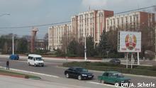 Der Oberste Sowjet, das Parlament Transnistriens, vor dem eine Lenin-Statue steht Copyright: DW/Alexandra Scherle 26.03. in Tiraspol, der Hauptstadt der separatistischen Republik Transnistrien