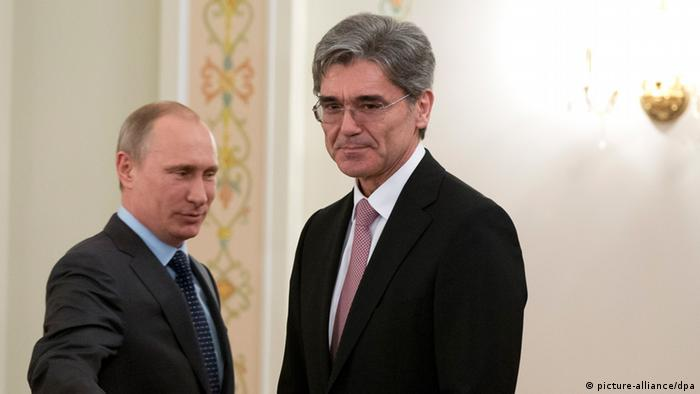 Putin und Joe Kaeser 26.03.2014 (picture-alliance/dpa)