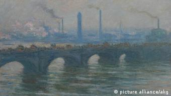 Claude Monets Gemälde Waterloo Bridge