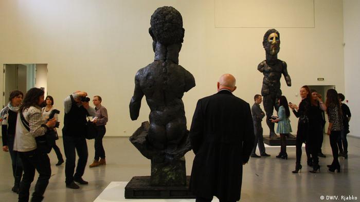 На открытии выставки в Петербурге