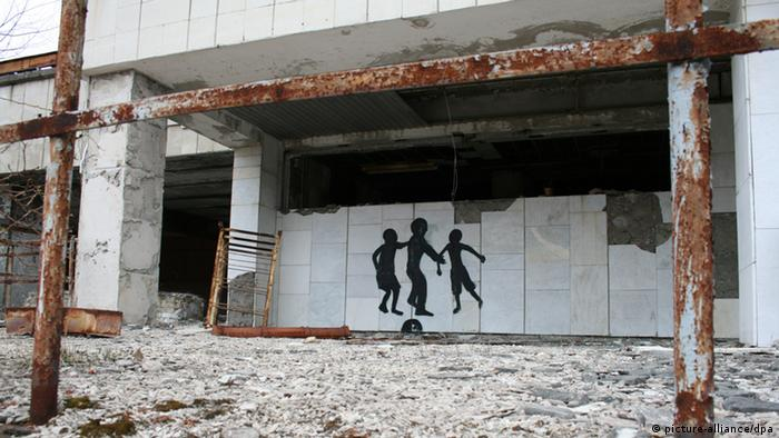 Abandoned building in Chernobyl's exclusion zone