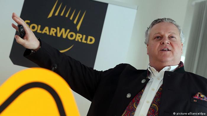 Bilanz Solarworld in Bonn Frank Asbeck