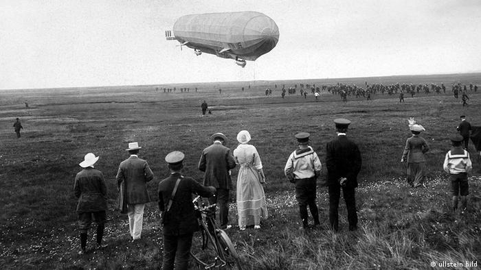 Дирижабль Zeppelin над островом Зюльт (1912)