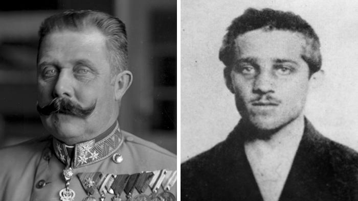 Франц Фердинанд и Гаврило Принцип