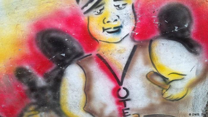 Graffiti-Wahlkampf in Indien